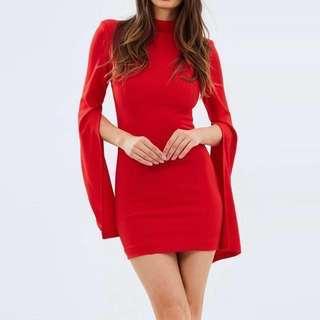 Mossman | Sense of Mystery Mini Bodycon Dress in Scarlet Red