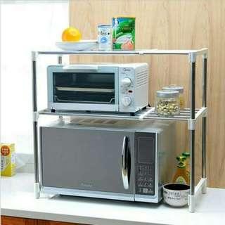 Microwave storage rack