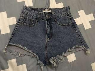 High waist denim shorts (26-27)
