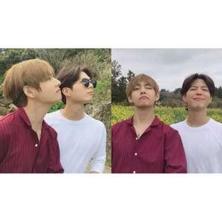 【Korea Buying Service 5/25-6/3】BTS V Taehyung Original Kuchimachi Stripe Blouse