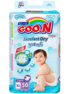 Goon diapers tape 3 packs size XL