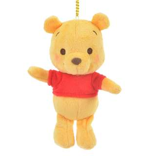 Japan Disneystore Disney Store Pooh Chill Keychain with Stuffed Plush Doll Toy