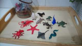 [FreeMail] Terra by Battat Sea Animals 12small pcs $7
