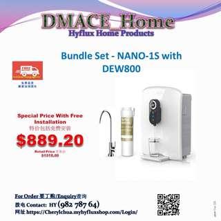Hyflux Home Product:  Bundle Set - NANO-1S with DEW800