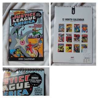 Justice League typo calendar