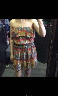 🚚 波西米亞平口洋裝