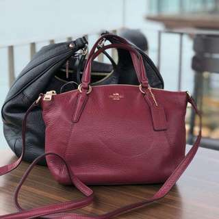 ORIGINAL COACH KESLEY MINI LEATHER (maroon)