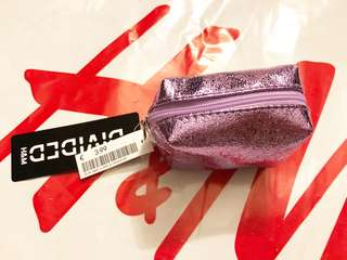 Brand New Auth H&M Purple/Metallic Mini Pouch