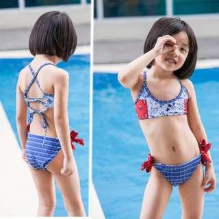 Printed Two Piece Kids Swimwear