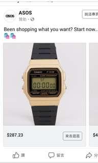 100% Casio 原裝行貨 F-91WM 新款膠帶跳字手錶 男女裝復古 黑金色 vintage watch 襯古著爛牛一流