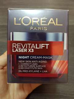 L'Oréal Paris Revitalift Laser X3 Night Cream Mask