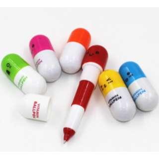 Pulpen pen bolpen mini bentuk kapsul lucu warna warni import - KSY039 - Kuning