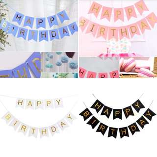 Happy Birthday party banner decoration