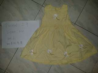 Baby girl yellow dress