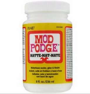 Instock: 8oz Matte Plaid Mod Podge Glue