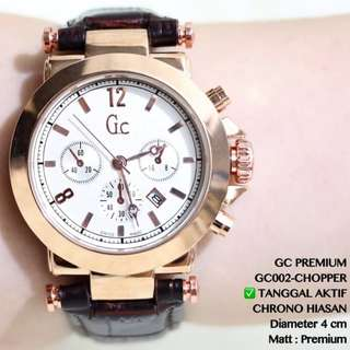 JAM TANGAN WANITA GUESS GC GUESS COLLECTION CEWE CHRONO HIASAN FORMAL