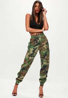 Missguided Printed Camo Trousers