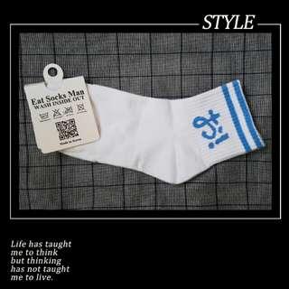 【現貨】原宿系女孩日文字街頭學生中筒襪