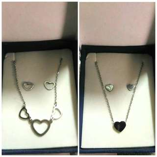 Stainless 2in1 Necklace and Earing