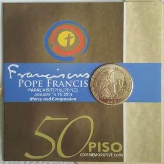 P50 2015 Pope Commemorative Coin