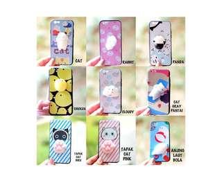 Squishy Case For Iphone 6 Tapak Cat Biru