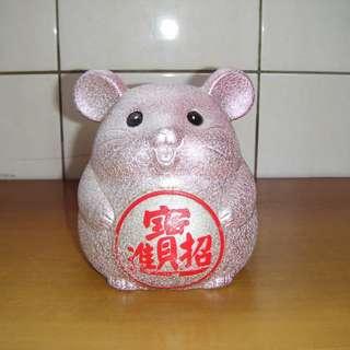 招財進寶-兔子造型存錢筒 陶瓷