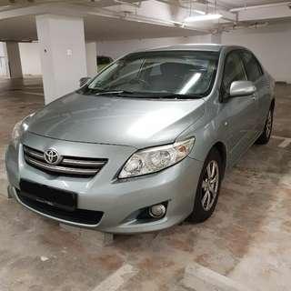 Toyota Altis For Grabcar Rent
