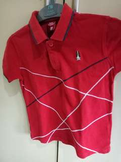 Hush Puppies Kids Red Polo