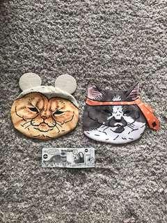 Koro koro collection gacha cat face purse from Japan