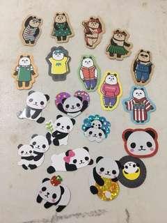熊貓分裝貼紙