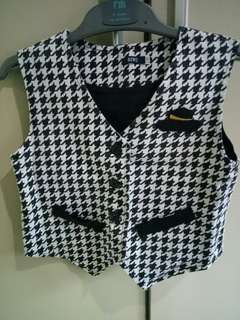 Formal Kid Vest in Black & White