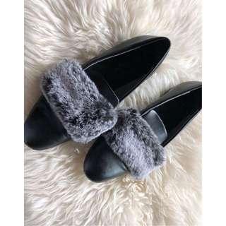 Zara Flats w/ Faux Fur