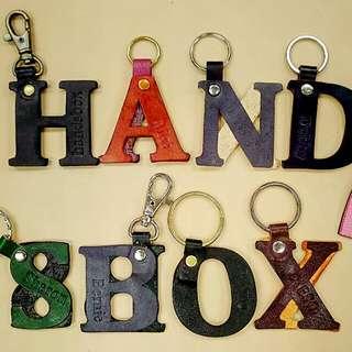 Key Chain 皮革英文字匙扣 皮革課程 皮革班 一對 兩個 情侶裝 情侶活動 handsbox 皮革學堂 荔枝角