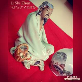 Vintage Hand-made Clay Figure of Li Shi Zhen. Small to medium size.  Good condition, no chip no crack. $28 clearance offer. Sms 96337309 for fast deal.