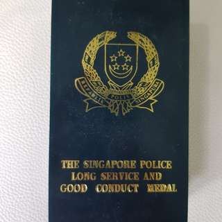 Rare Singapore Police Force Long Service & Good Conduct Medal