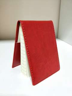 BRAND NEW!! RED PU COVER MEMO PAD -WITH POCKET- 60PAGES!! MEMOPAD CAN BE REFILLED ON UR OWN WHEN FINISH, AND COVER CAN BE REUSED :)) EXTRA POCKET AT THE BACK FOR CARDS OR ANYTHING U WANT TO PUT!! LIMITED EDITION!! ONLY 1 AVAILABLE!!  HURRY!!!!