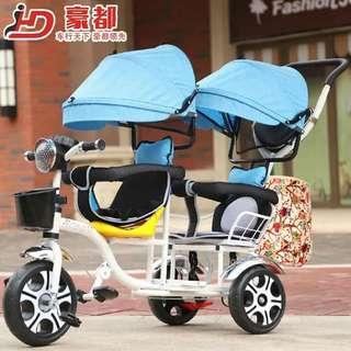 Twin stroller bike