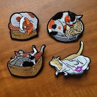 Cat Iron On Patch Badge