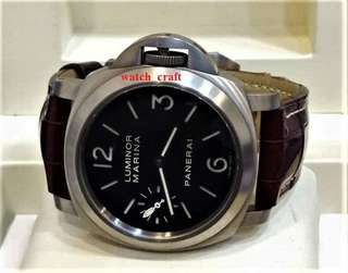 Used Panerai Luminor Marina PAM 177 Hand Wind Titanium 44mm Full Set  - Our price : RM16600.00 incl. 6% gst