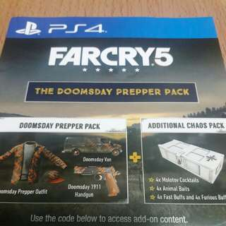 PS4 FARCRY 5 淨CODE 沒有GAME