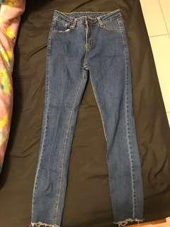 高腰牛仔褲 M號