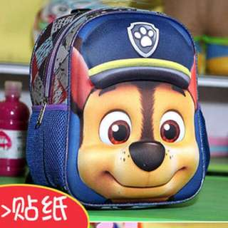 Kids School Bag paw patrol 3D with free stationery set and stickers