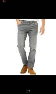Korean Men Distressed Casual Gray Pants