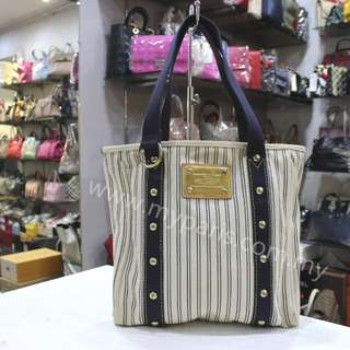 Louis Vuitton Navy Striped Canvas Antigua Cabas MM Condiiton : 80% New My Paris Price : RM 1380