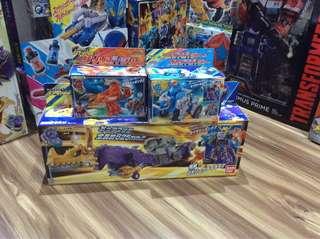 [CASH ONLY] Bandai Arsenal Toy - Kyuranger - Kyutama Gattai DX Ryu Teioh Set - Combiner Action Figure