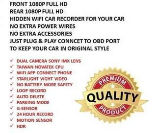 Wi-Fi car recorder FRONT ONLY ( FULL HD 1080P)