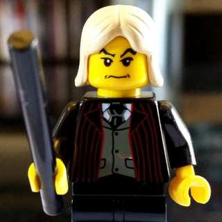 Lego Minifigure Harry Potter Lucius Malfoy Yellow Face Classic with wand
