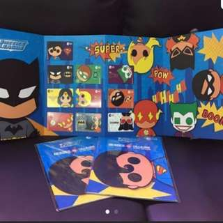 Limited Edition DC Justice League Superheroes Set of 10 Ez-link Cards