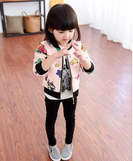 Girls coat spring 2018 Korean children baseball uniform child children baby clothes cardigan jacket coat cartoon