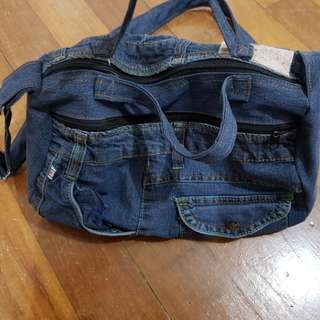 Denim bag 2way use